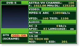 A MPEG-4 channel in this service