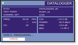 Datalogger function taking automatic measurements