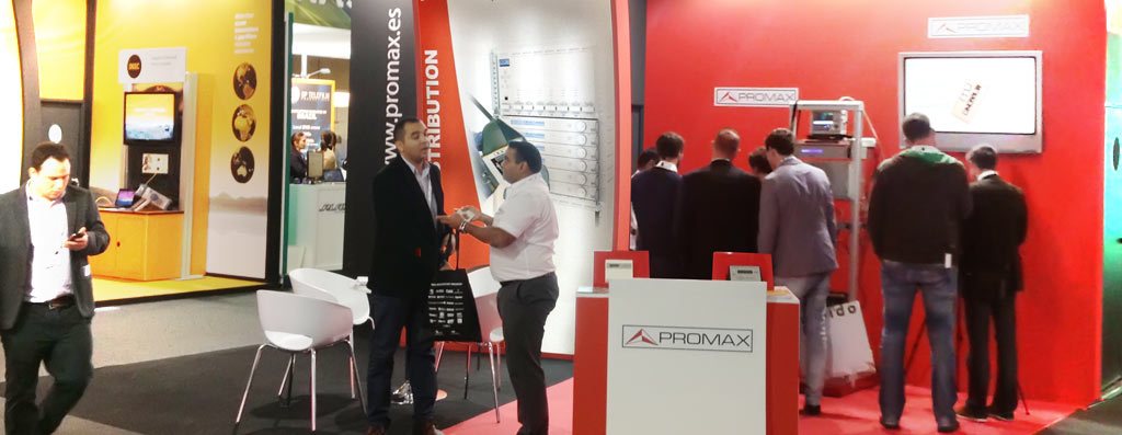PROMAX stand at the IBC world trade fair.
