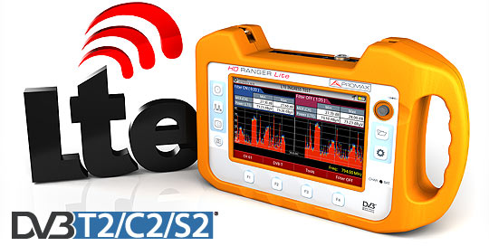 The RANGER Neo Lite field meter is the most inexpensive analyser that incorporates DVB-T2 and a specific tool for LTE