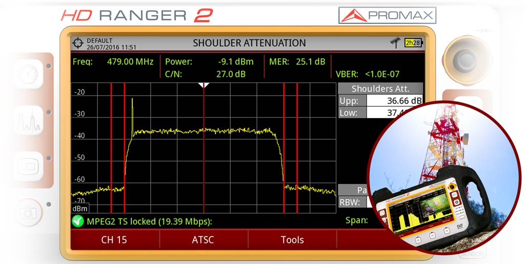 HD RANGER 2 and HD RANGER 3 includes automatic shoulder attenuation measurement