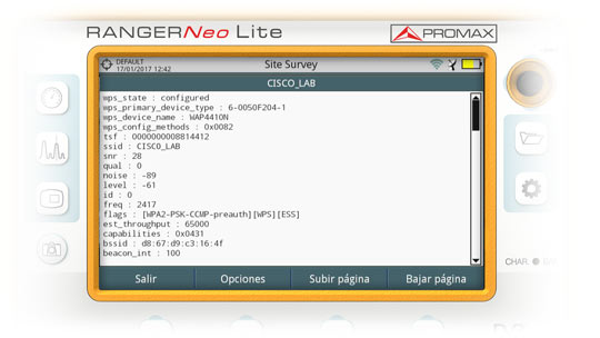 2 4 GHz WiFi analyser | PROMAX Electronica