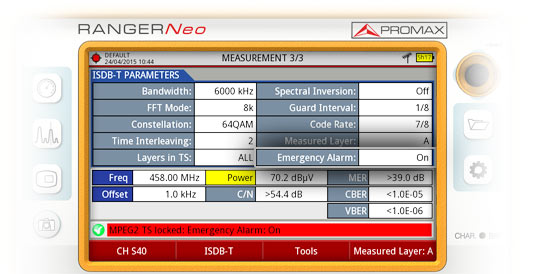 With a RANGER Neo field strength meter EWBS signal can be checked