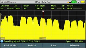 Unidentified DVB-S2 satellite transponder