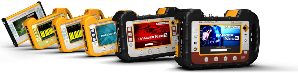 RANGER product family, analysers for every application from antenna alignment to broadcast quality measurements