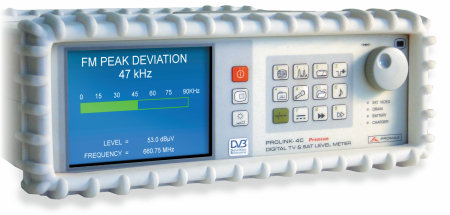 PROLINK-4 Premium FM Peak Deviation measurement function