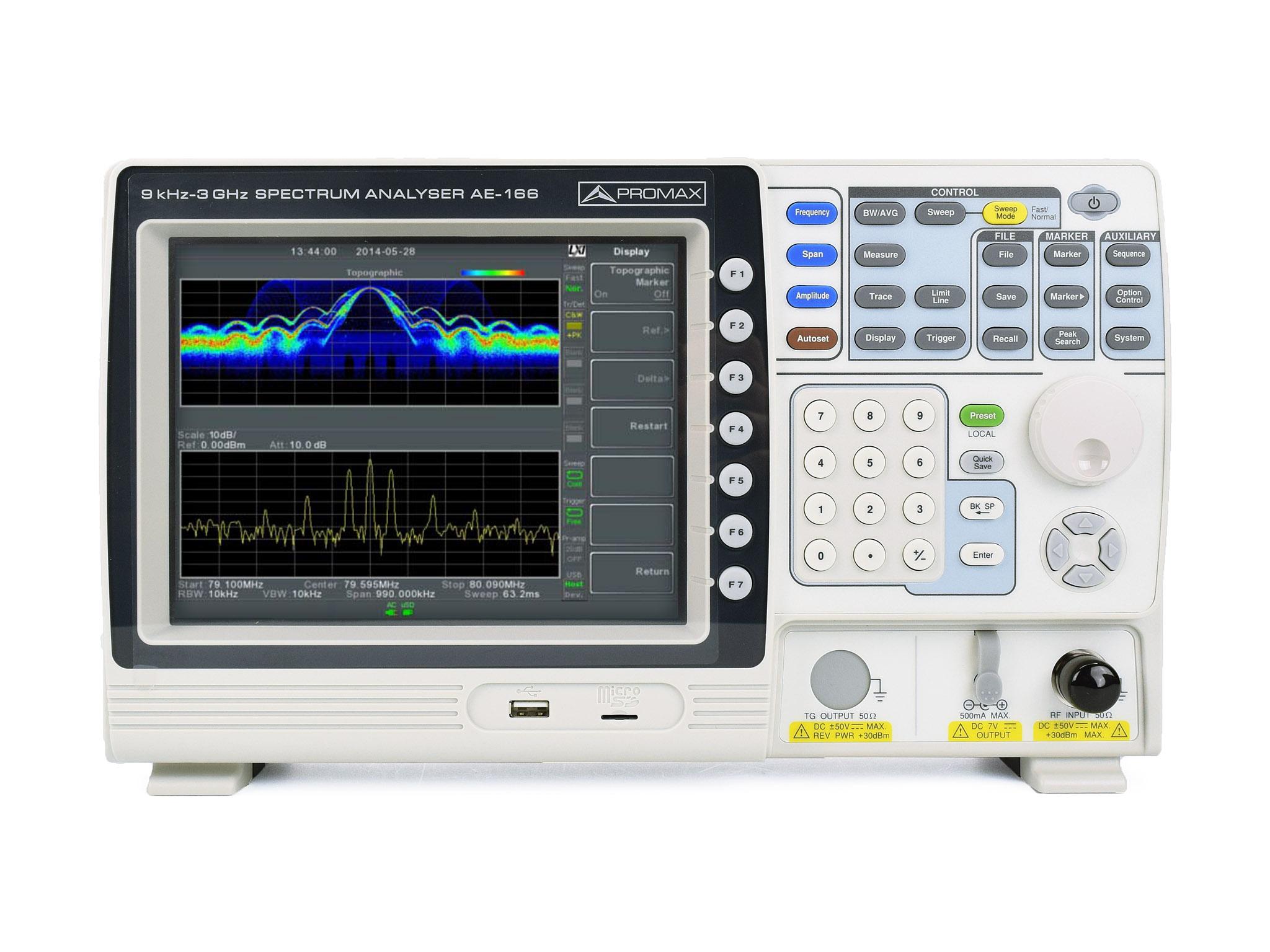 RF spectrum analyzers | PROMAX Electronica
