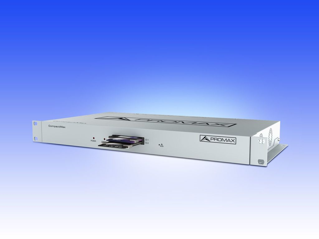 CompactMax-5: DVB-S/S2 to IPTV transmodulator with Common