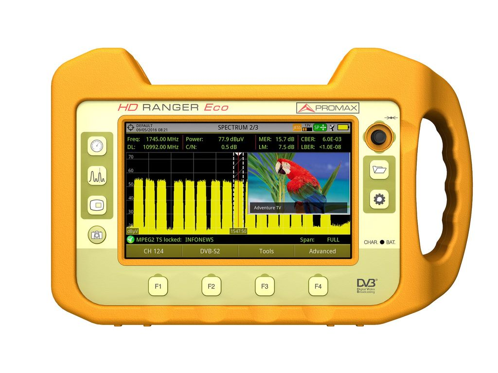 HD RANGER Eco: Field strength meter and spectrum analyzer | PROMAX