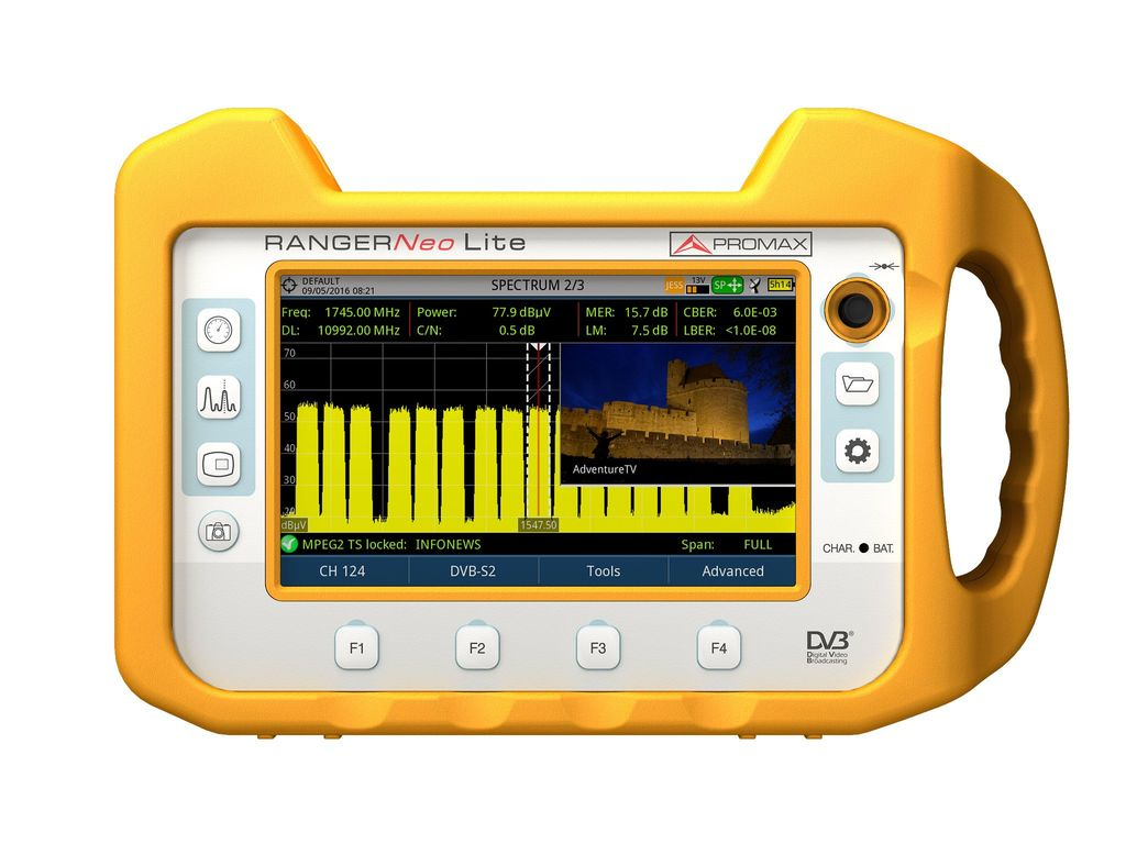 TV, Cable and Satellite Spectrum Analyzers | PROMAX Electronica
