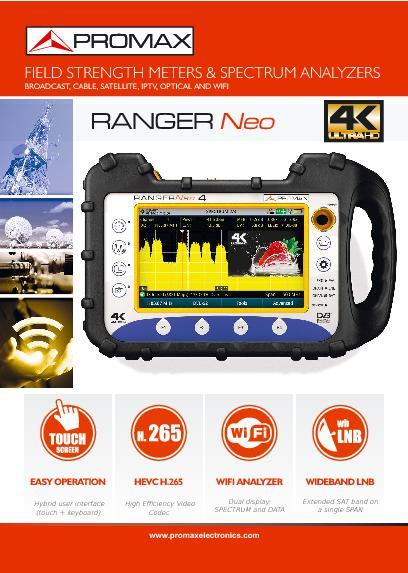 Catalog of RANGERNeo TV field strength meter and spectrum analyzers